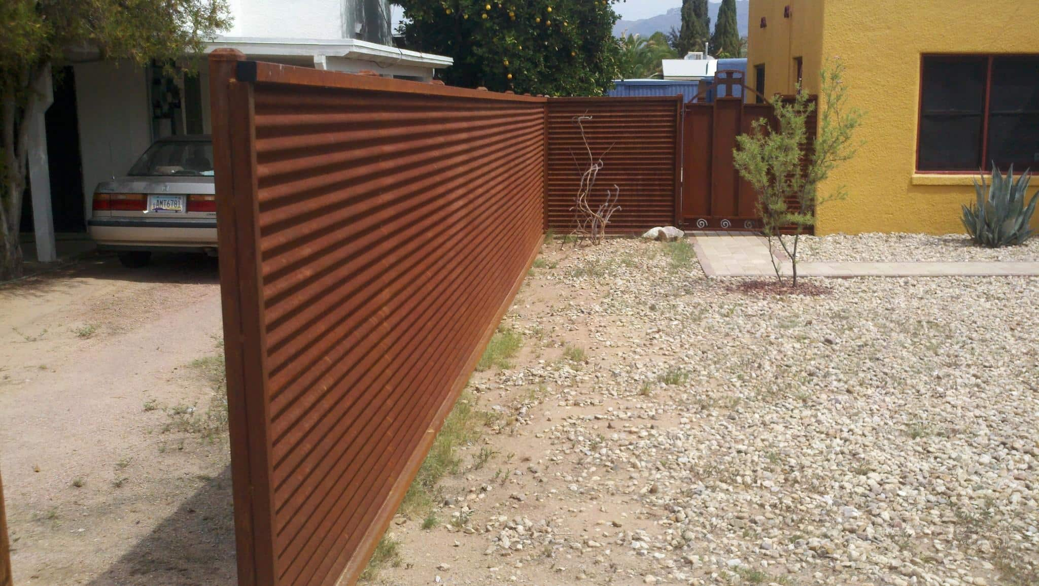 Corrugated Steel Fence And Gates 183 Affordable Fence Amp Gates