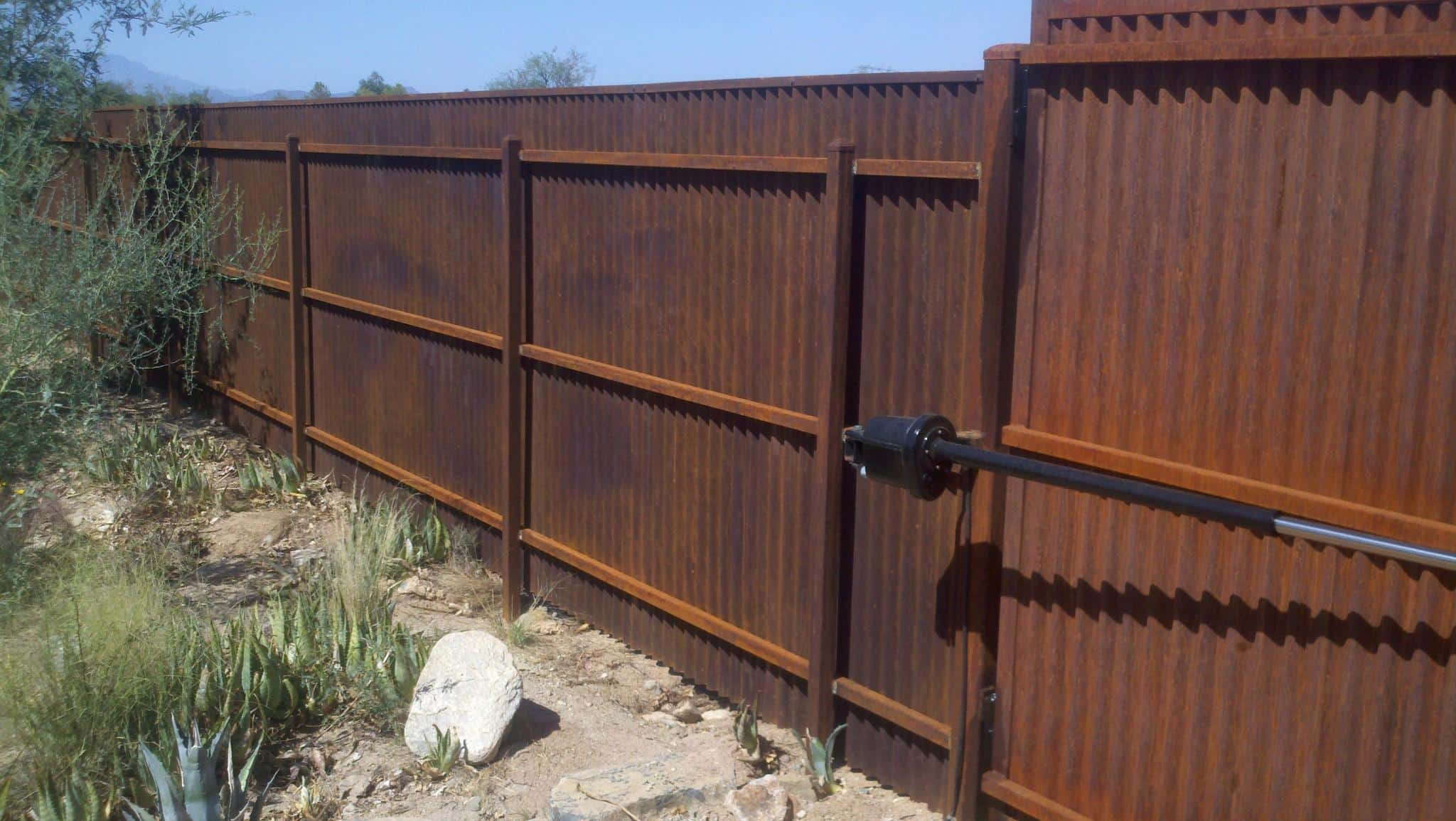 Corrugated steel fence and gates · affordable