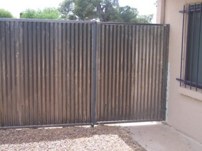 Corrugated Steel Fence And Gates Affordable Fence Amp Gates
