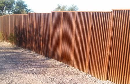 Corrugated Steel Fence Cf247 183 Affordable Fence Amp Gates