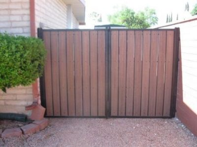 Iron and Synthetic Wood Double Gate | WG6000- 9
