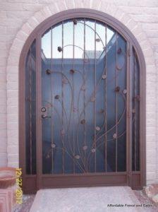 Porch enclosure with ocotillo decoration E417 - Made in Tucson