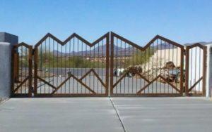 Driveway Gate | Double Gate | Mountain Style Design Gate