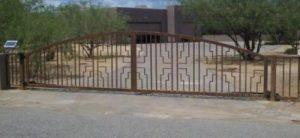 Driveway Gate | Double Gate | Rusted Metal Gate | Custom Design Gate