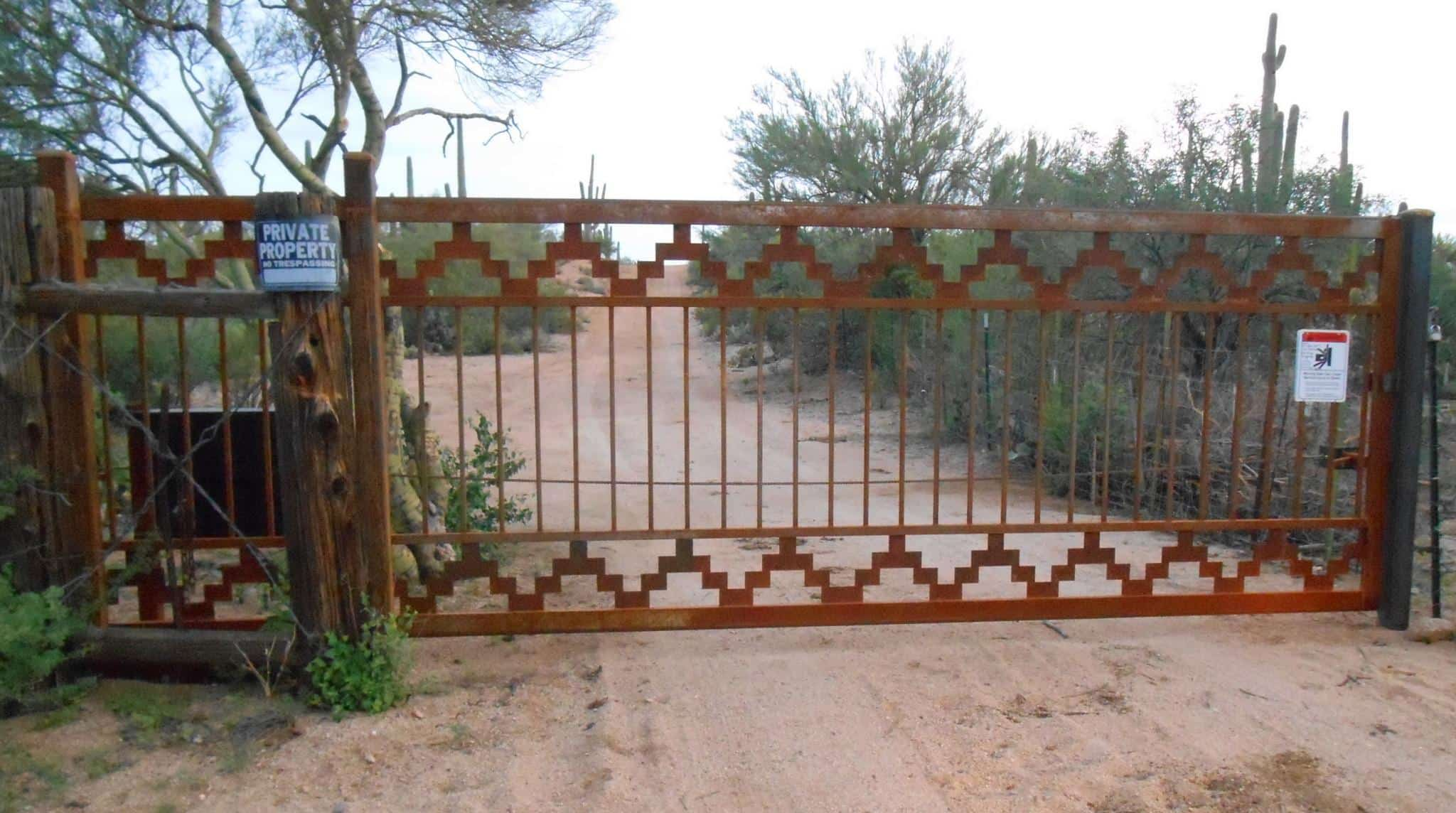 Driveway Gate | Rusted Metal Gate