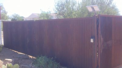 Corrugated Steel Fence | CF217