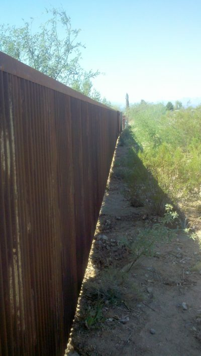 Corrugated Steel Fence | CF220