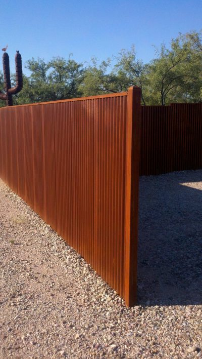 Corrugated Steel Fence | CF221