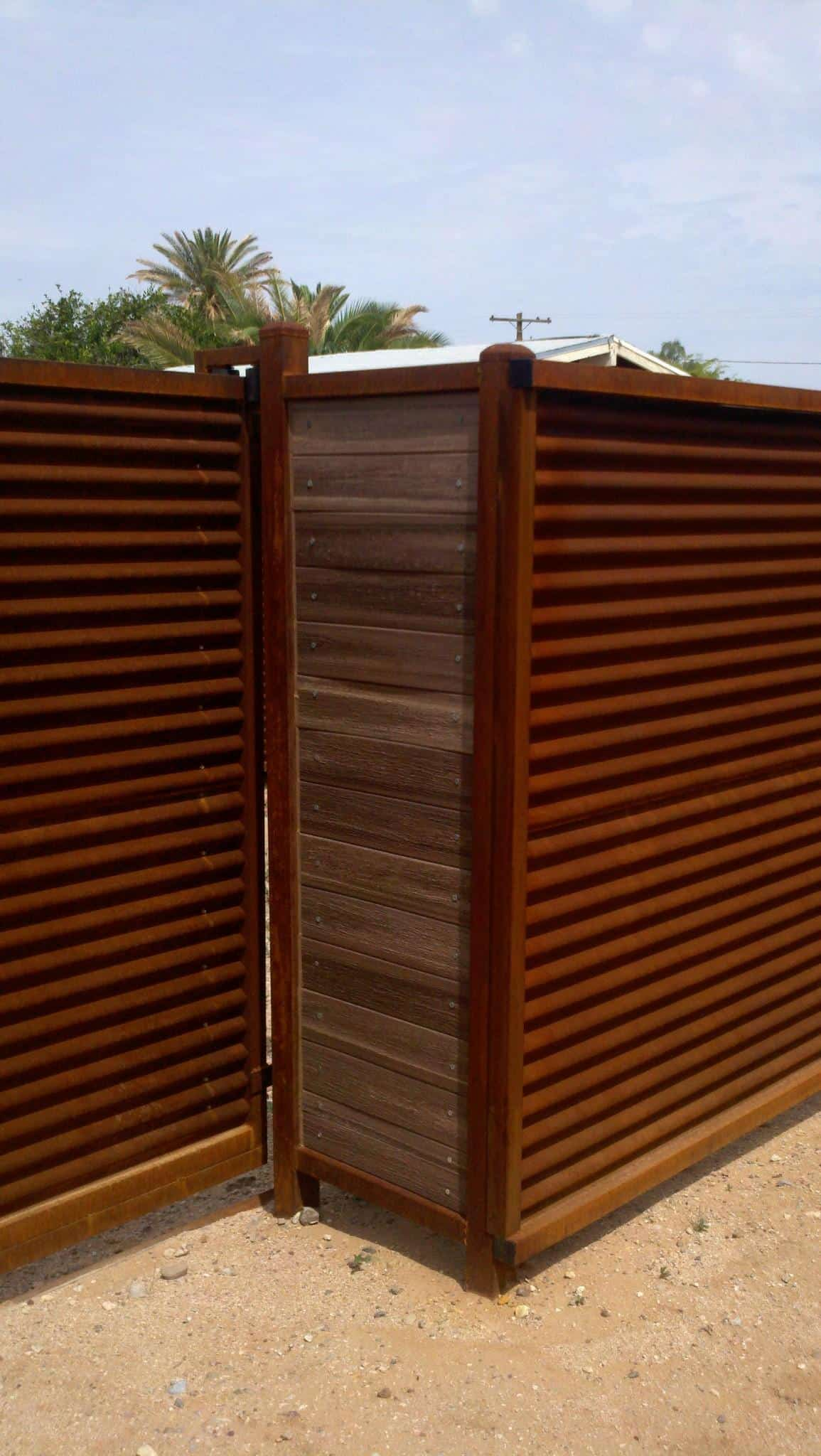 Corrugated metal fence cost pixshark images