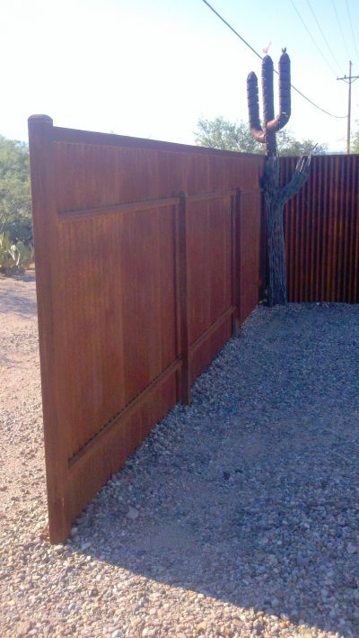 Corrugated Steel Fence | CF229
