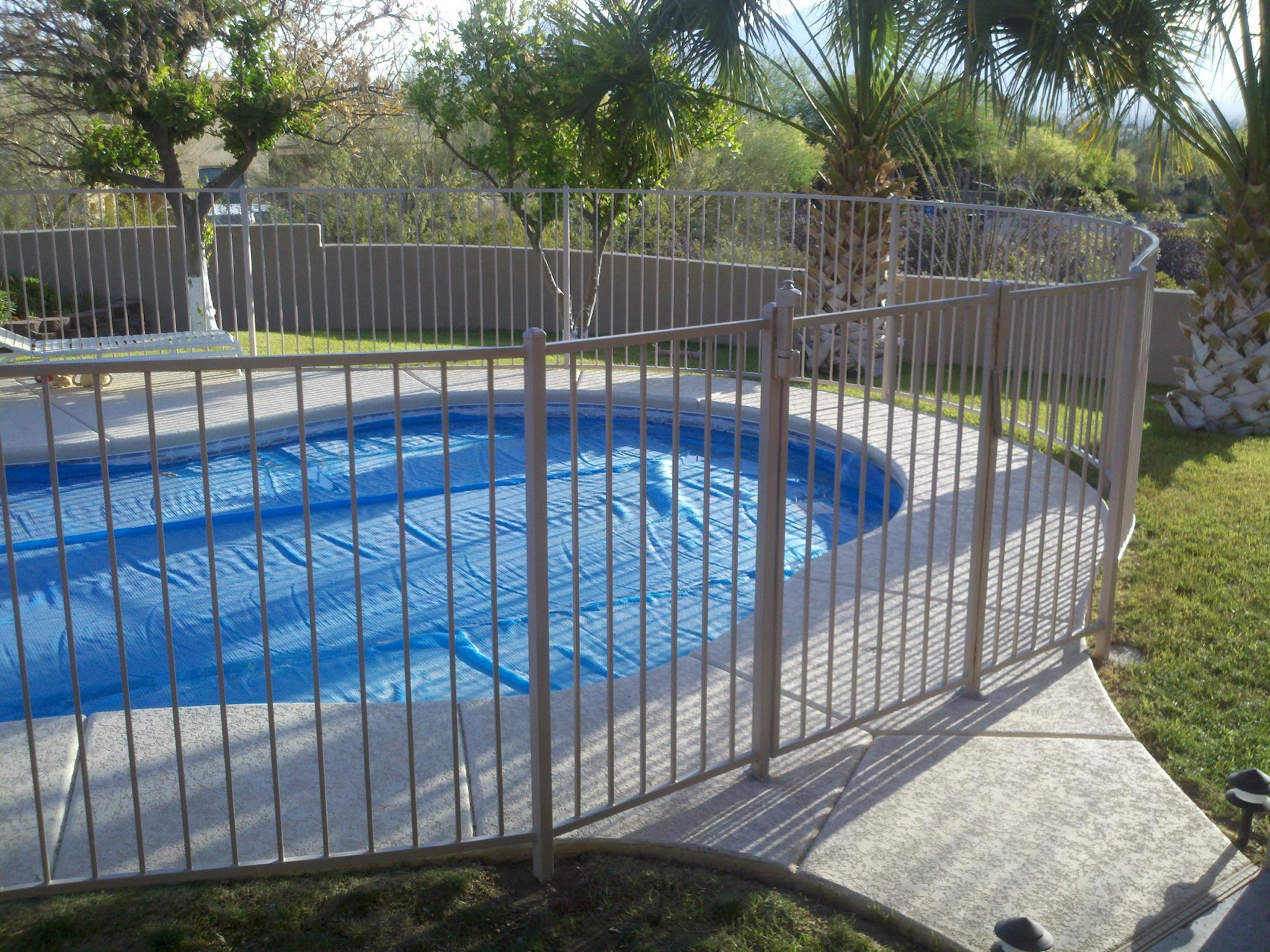 Iron pool fence · affordable gates
