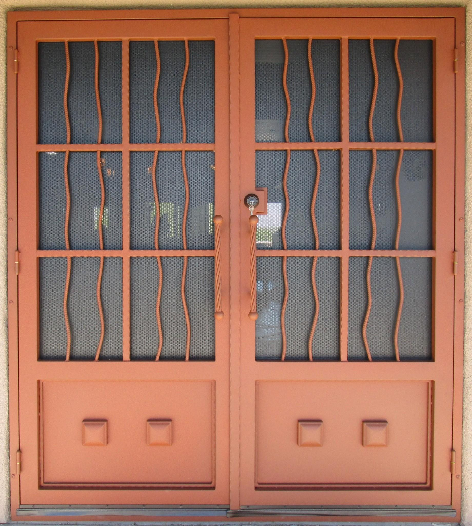 Security Door | Custom Built Security Door | Rustic Style Security Door