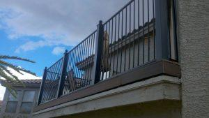 Balcony Rail with metal posts - Installed in a subdivision of Tucson IF223