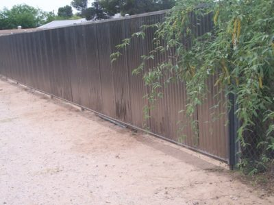 Corrugated Steel Fence | CF203