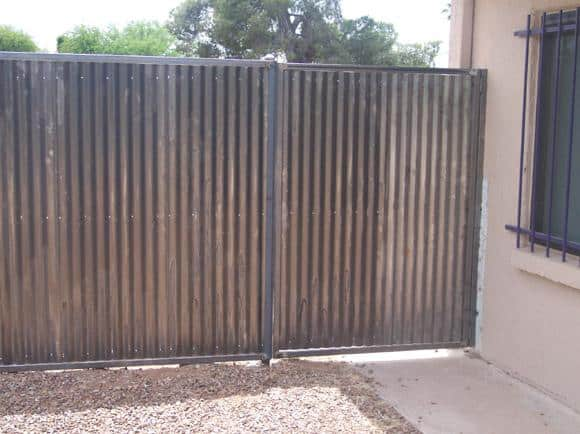 Corrugated Steel Fence | Metal Fence | Corrugated Steel Fence with Single Gate