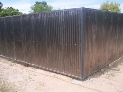 Corrugated Steel Fence | CF215