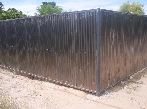 Corrugated Steel Fence | Metal Fence
