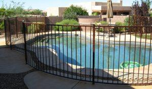 Curved Wrought Iron Pool Fence IF100-13 ST