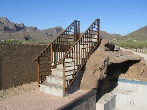 Custom Design Stair Rail installed in Marana AZ IF210