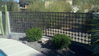 Custom wrought iron fence IF200