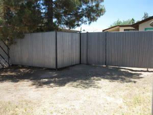 Corrugated Steel Fencing | Metal Fence
