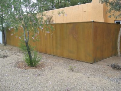 Corrugated Steel Fence | CF209