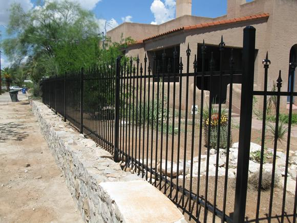 Iron fence with spears built in midtown Tucson IF217