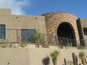 Iron handrail with knuckles and an alternate twist pattern - Catalina Foothills IF221-2