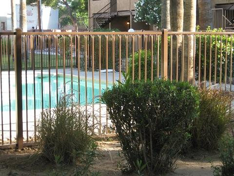 Iron pool fence in a multi family residence in Tucson IF216-4 IF