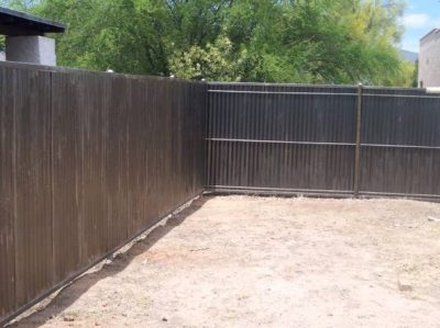 Corrugated Steel Fence And Gates Affordable Fence Gates