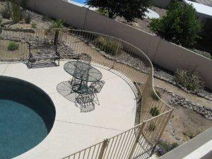 Pool Fence with Customized Shape