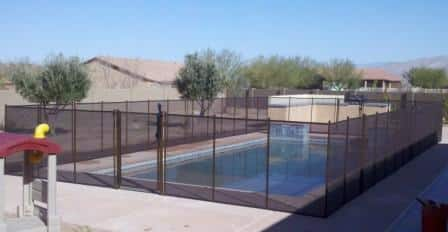 Removable mesh pool fence RM116 - installed in Marana AZ