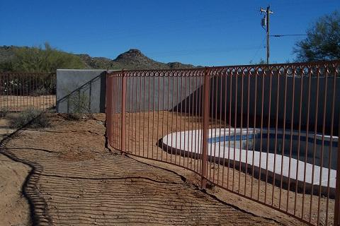 Ornamental Pool Fence Tuscan Style - Dove Mountain IF204-3 IF