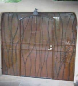 patio enclosure door and side panels wavy motif E213 - Installed in Tucson