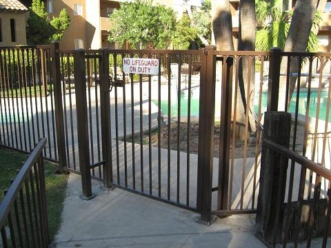 Pool fence and gate built for a multi-family residential complex in Tucson IF216-2 IF