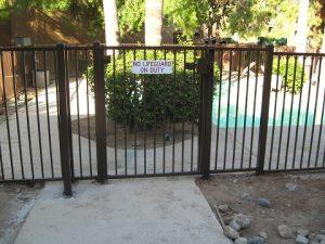 Pool fence and gate in a multi-family residential complex in Tucson IF216-5 IF
