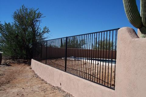 Pool fence on wall - alternate pattern IF100-20 ST