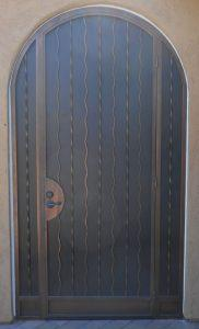 Security door with alternate wavy and twist patterns E437 - Made in Tucson