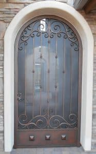 Security door with arched top E912 - Made in Tucson