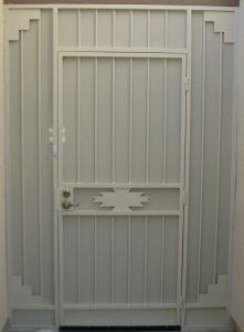 Security enclosure with southwestern motif - Tucson E117
