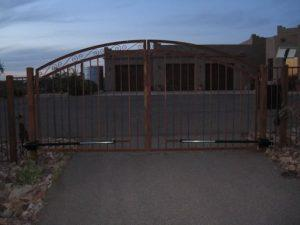 Driveway Gate | Double Gate | Rusted Metal Gate | Gate with Scrolls