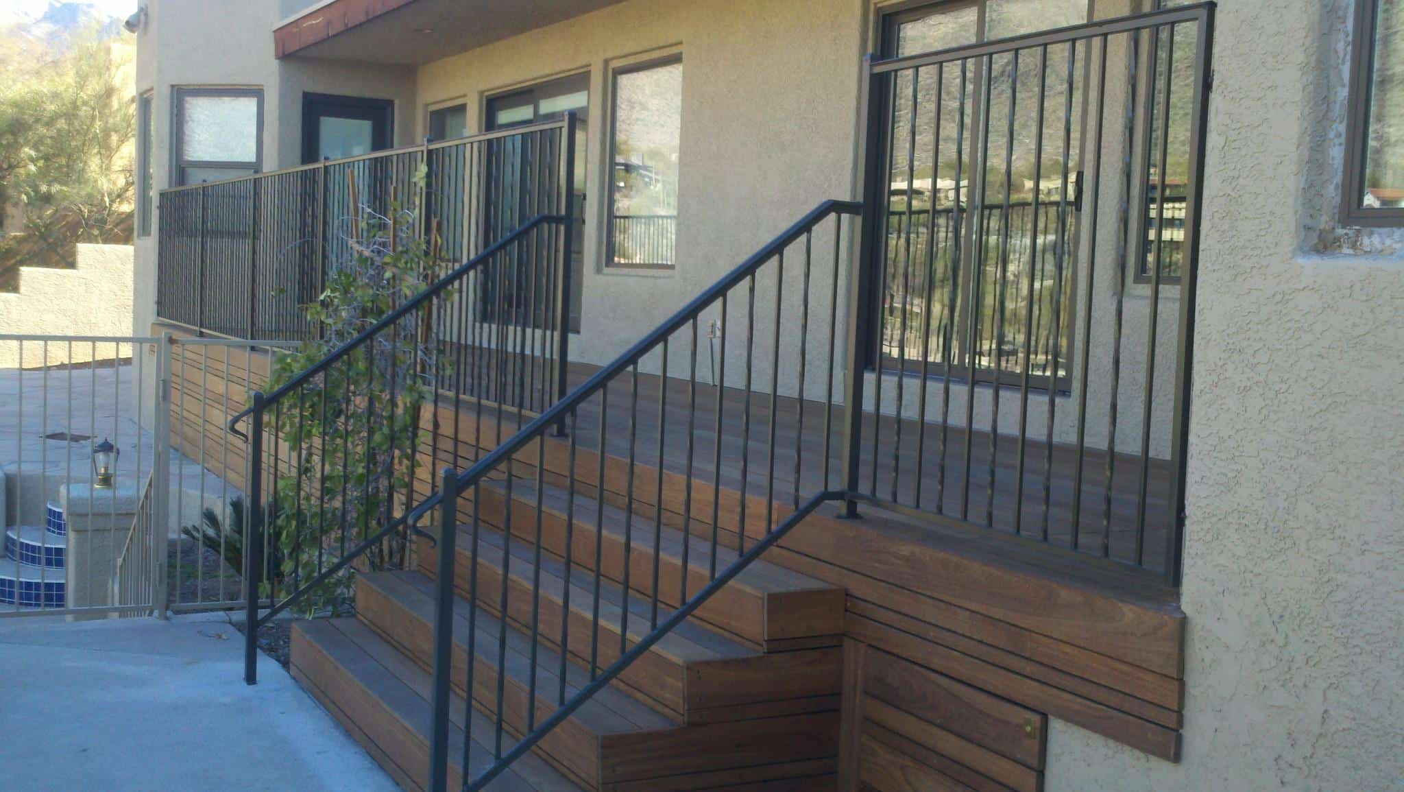 2 Stair Rails with alternate twist pattern IF101-10 AT