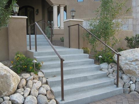 Simple iron stail rails - Installed in the Catalina Foothills IF222
