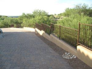 Stepped wrought iron view fence with knuckles IF108-2 K