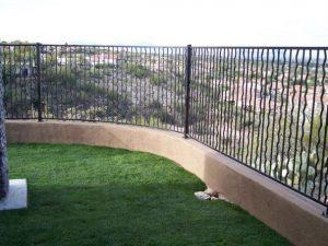 Wall-mounted wrought iron fence (view fence) alternate wavy pattern IF102-8 A/W