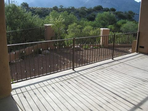 Wrought iron balcony handrail and fence IF108-3 K