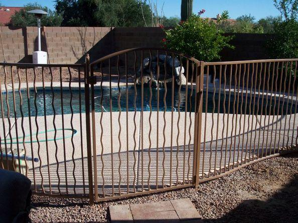 Wrought Iron Pool Fence Alternate Wavy IF102-1 A/W