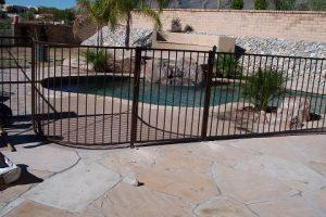 Wrought Iron Pool Fence - curved IF100-14 ST