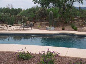 Long Wrought Iron Pool Fence - IF100-17 ST