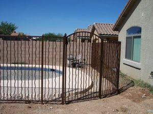 Wrought Iron Pool Fence IF102-14 Alternate Wavy